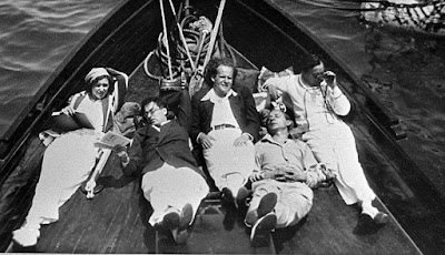 Джорджия Хэйл, Айвор Монтегю, Сергей Эйзенштейн, Эдуард Тиссэ и Чарли Чаплин, 1930 год