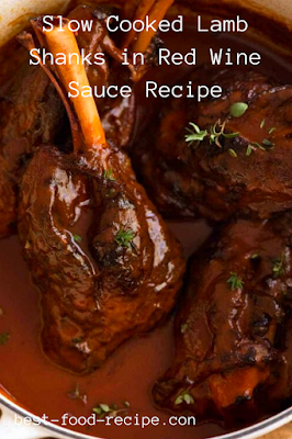 Slow Cooked Lamb Shanks in Red Wine Sauce Recipe