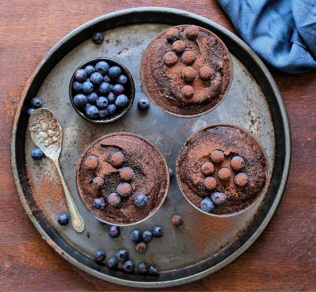 Delicious vegan chocolate mousse.