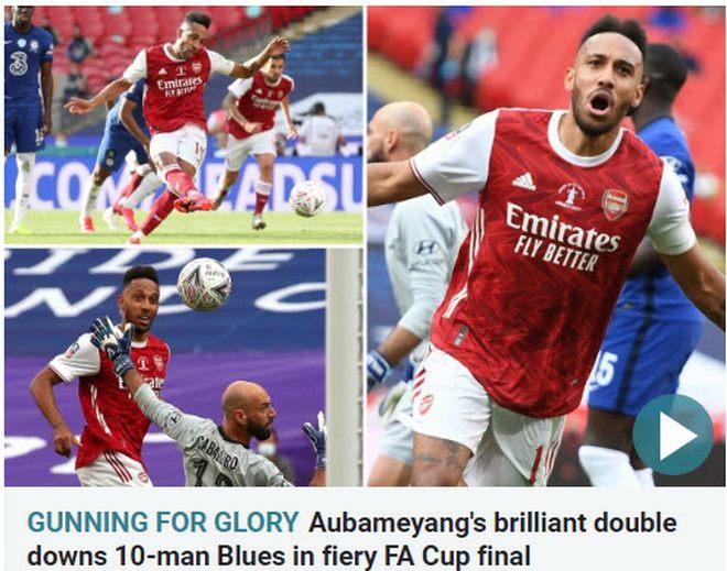Arsenal vô địch FA Cup: Người hùng Aubameyang bùng nổ, báo chí Anh ngả mũ 3
