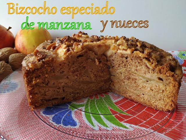 Bizcocho  Especiado De Manzana Y Nueces
