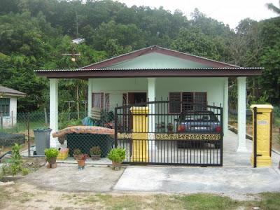 desain rumah sederhana yang ada di kampung