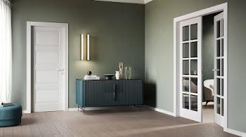 Decoración interior con puertas lacadas