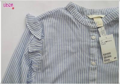 hm shirt, hm gömlek, hm shopping, hm online turkiye, hm online alışveriş, hm türkiye, hm clothing, hakim yaka gömlek, kadın gömleği, mavi beyaz çizgili gömlek, omuzları fırffırlı gömlek, volanlı gömlek