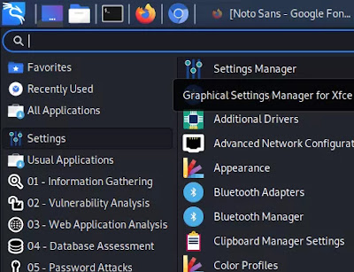 open settings manager