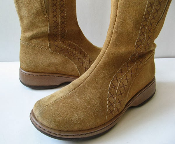 Dansko Brown Leather Suede Boots Womens Size 8 5 Size 39