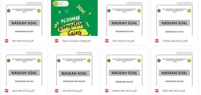 Download Bank Soal KSM Jenjang MI, MTs dan MA Tahun 2021