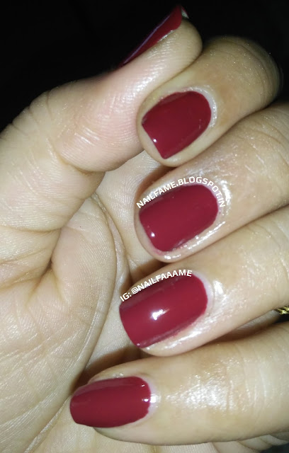 LAKME TRUE WEAR NAIL COLOR FREE SPIRIT D417 MANISH MALHOTRA REVIEW AND NAILART