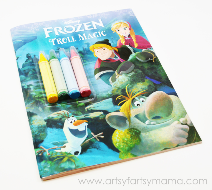 Disney FROZEN coloring books now at Walmart on artsyfartsymama.com #FrozenFun #shop #cbias