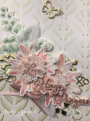 Positive Thoughts, Andrea Sargent, Stampin Up, Art with Heart, AWHT, Creative Showcase, blog hop, stencilling