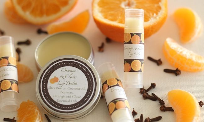 Handmade Orange and Clove Lip Balm by The Everyday Farmhouse featured at Pieced Pastimes