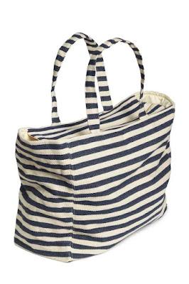 torba na plażę wyprzedaż H&M torba w paski shopper bag stylistka blog