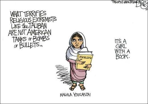 Malala Yousafzai, educación, talibán