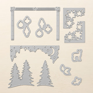Card Front Builder Thinlits Dies - Perfect match for the Carols of Christmas stamp set, or use them by themselves to make gorgeous Christmas Cards - Simply Stamping with Narelle - available here - http://bit.ly/2ftHYVu