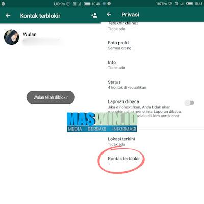 Begini cara mudah memblokir nomor whatsapp 2019