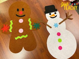 Party Games - Felt Gingerbread Man & Snowman