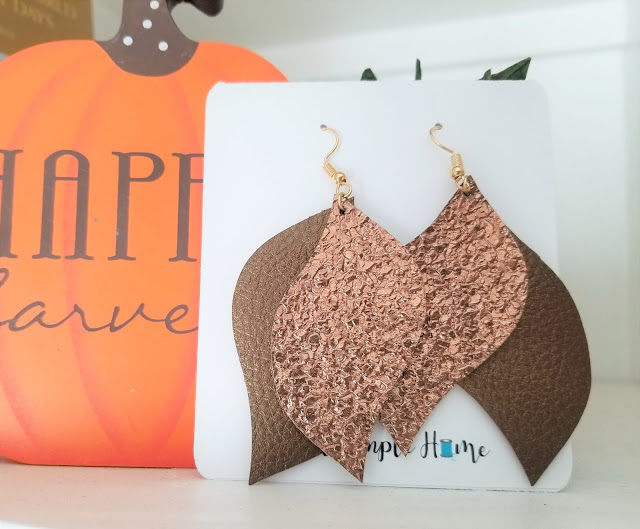faux leather earrings cricut