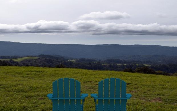 Paisaje de SOLIDWORKS con sillas Adirondack