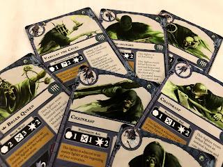 The nighthaunt character cards from Warhammer Underworlds: Nightvault