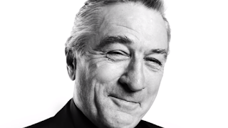 Carrozzini's portrait of the actor Robert De Niro