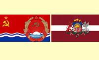 герб и флаг Латвии и ЛССР