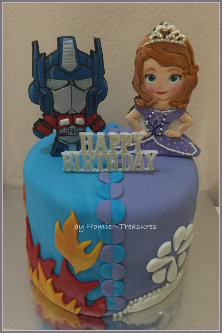 Duo Design Cake Transformer Sofia The FIrst