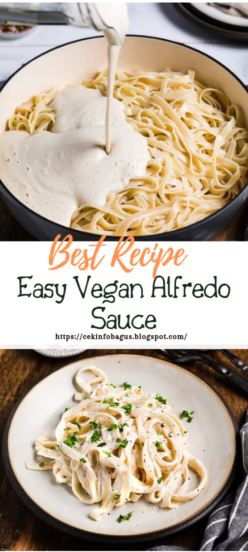 Easy Vegan Alfredo Sauce #vegan #vegetarian #soup #breakfast #lunch