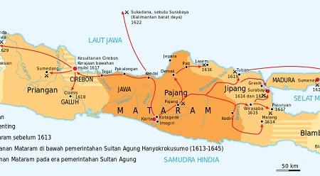 Pembagian Wilayah Kekuasaan Mataram Islam