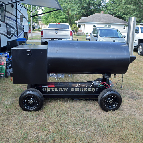Offset smoker at 2019 Praise The Lard BBQ Contest