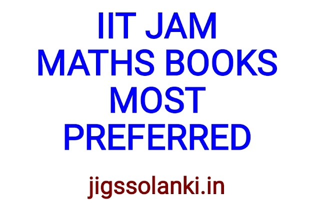 IIT JAM MATHS BOOKS MOST PREFERRED