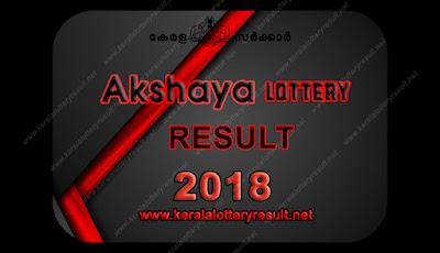 AKSHAYA LOTTERY RESULTS 2018