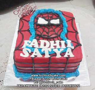 Kue Tart Spiderman Buttercream Cake