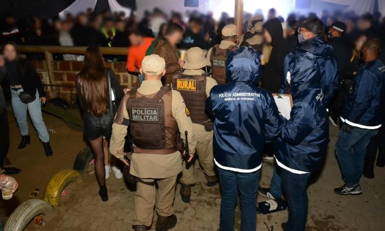 Operação integrada encerra três eventos clandestinos em Vitória da Conquista