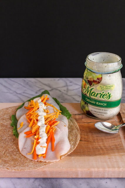 Whole Wheat Creamy Ranch Turkey Wrap | The Chef Next Door #PowerYourLunchbox