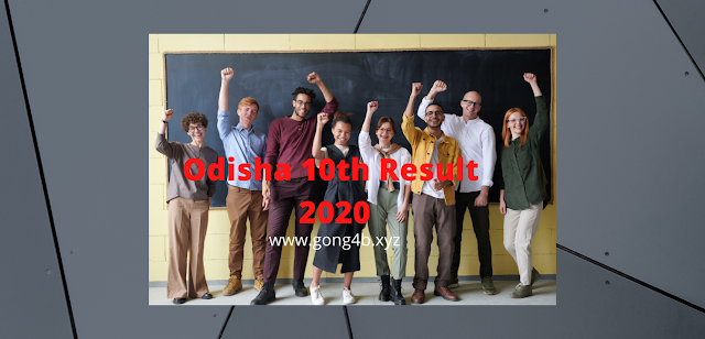 Odisha Matric (10TH ) Result in 2020 Released