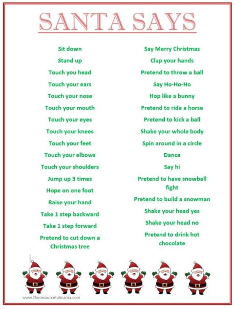 Printable Christmas games for Kids, Children Xmas party games