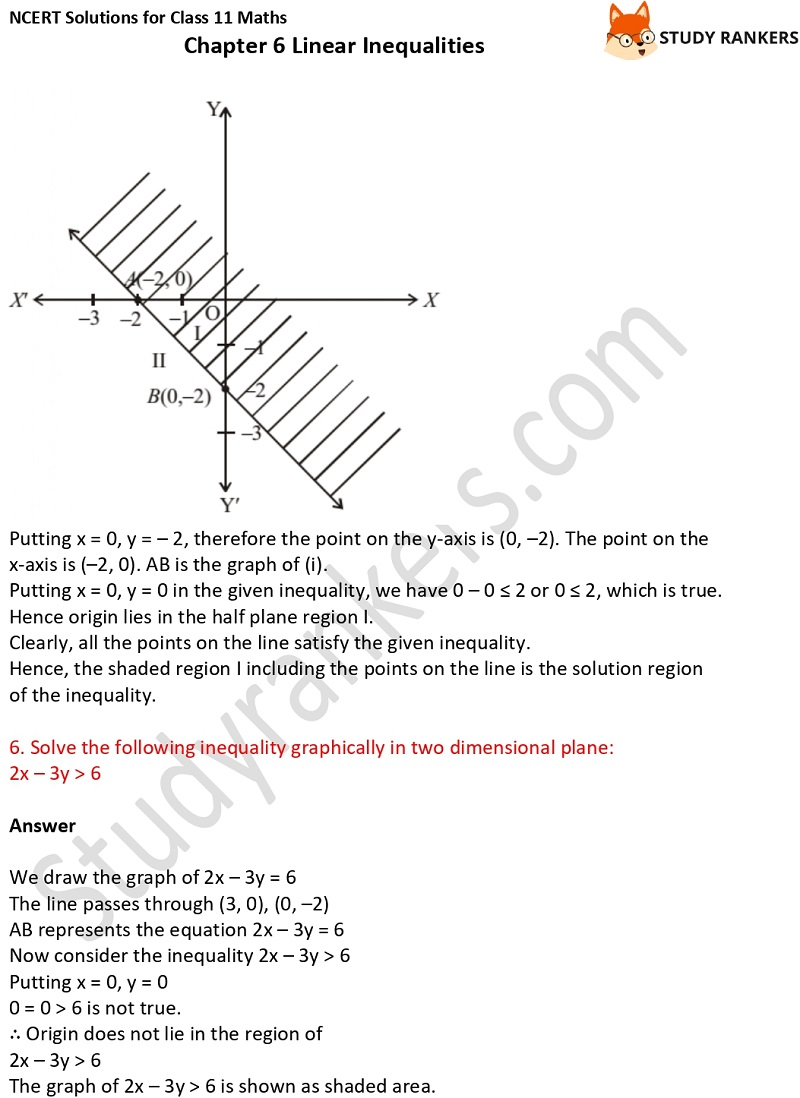 NCERT Solutions for Class 11 Maths Chapter 6 Linear Inequalities 13