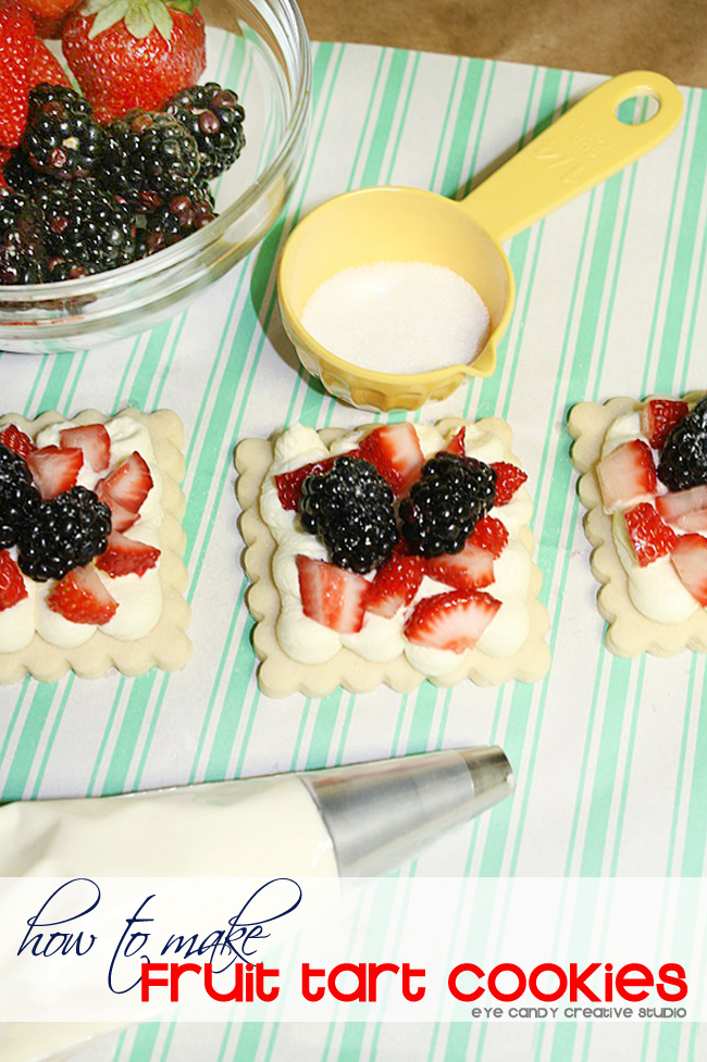 how to make fruit tart cookies, summertime, sugar cookie recipe, fruit