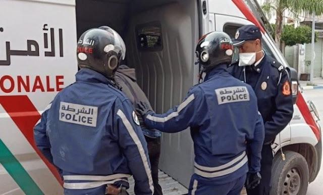 ضابط شرطة يضطر لاستعمال سلاحه الوظيفي لتوقيف ثلاثة أشخاص