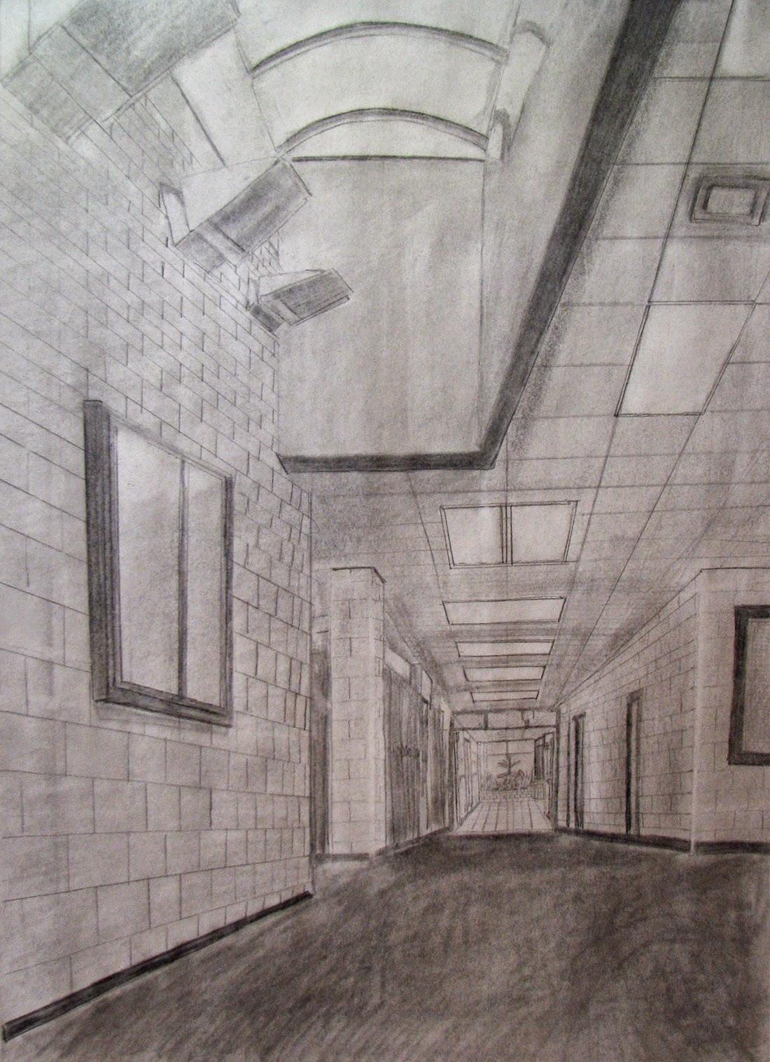 Mr Mallorys Stuff Drawing Hallway Perspective Drawing