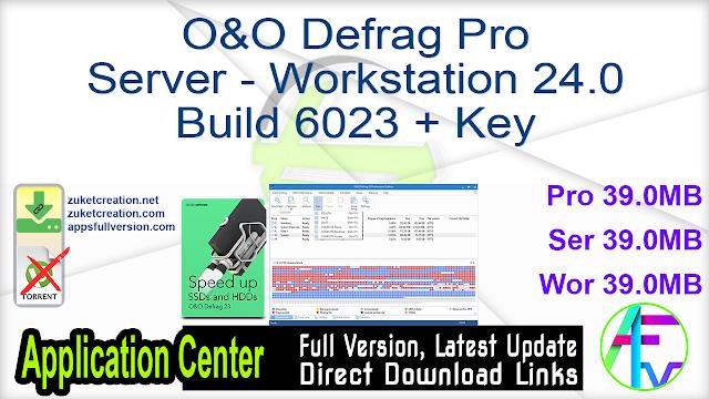O&O Defrag Pro Server Workstation 24.0 Build 6023 + Key