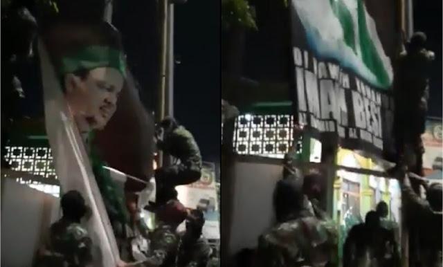 Viral Video Penurunan Paksa Baliho HRS Malam Hari, FPI: Ada Upaya Adu Domba Kami dengan TNI
