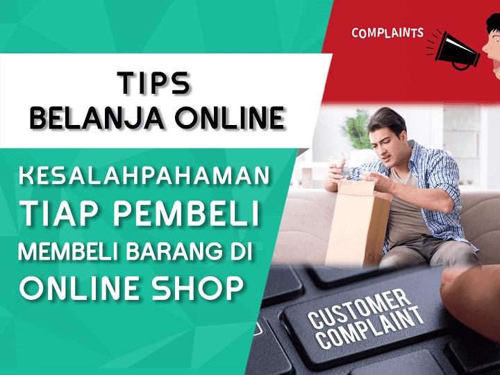 kesalahpahaman pembeli setiap transaksi di situs online shop