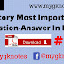 History Most Important Question-Answer In Hindi Part = 1