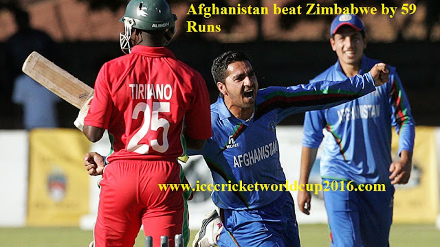 ICC T20 Zimbabwe vs Afghanistan Nagpur Match Result 2016