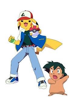 Cursed Ash and pikachu meme