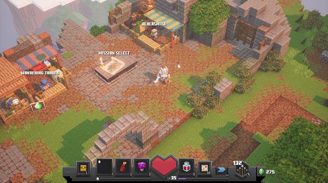 Minecraft Dungeons - camp site