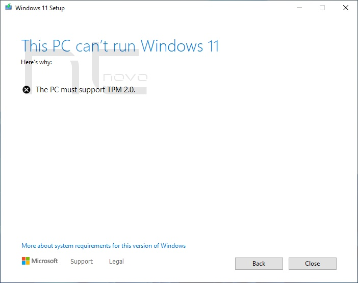 Come installare Windows 11 su PC senza TPM 2.0