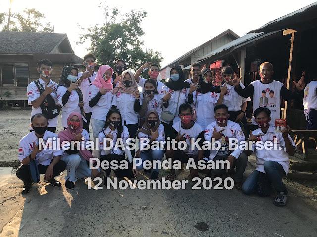 Relawan Milenial Das Barito Bersaudara Seruduk Desa di Kecamatan Dusun Selatan, di Barsel