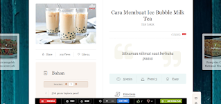 resep masakan milk tea